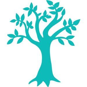 arbre turquoise qui nous inspire pour dessiner